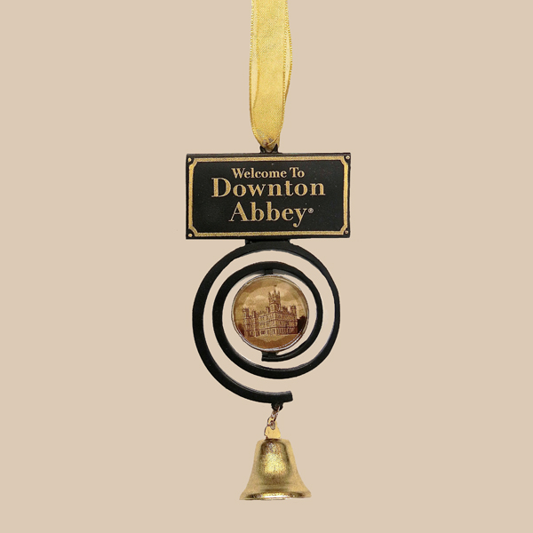 """DOWNTON ABBEY® """"WELCOME TO DOWNTON ABBEY"""" PULL BELL ORNAMENT © 2013 Carnival Film"""