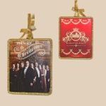 DOWNTON ABBEY® GLASS RED WTH GOLD GLITTER FAMILY PORTRAIT TWO SIDED RECTANGLE ORNAMENT © 2013 Carnival Film & Television Limited. All Rights Reserved
