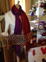 Game Day scarves and clutches