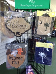 Garden flags and door decorations