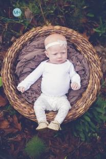 Ivory baby rhinestone bow